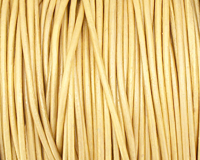 Gold (metallic) Round Leather Cord 1.5mm