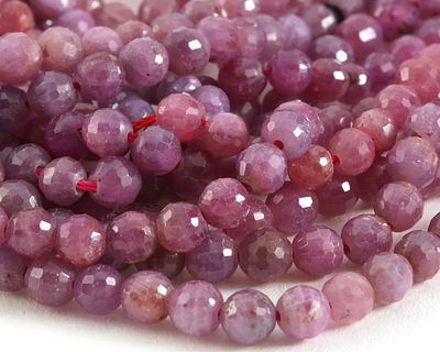 Ruby Faceted Round 5-5.5mm