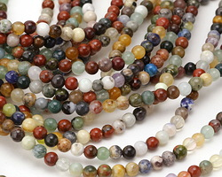 Multi Gemstone (Sodalite, Tiger Eye, Red Jasper, Aventurine) Round 4mm