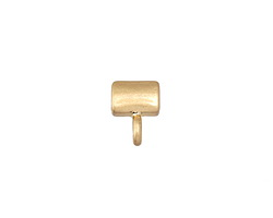 Zola Elements Matte Gold (plated) Simple 3mm Flat Cord Slide w/ Bail 9x11mm
