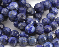 Lapis Step Cut Round 9-10mm