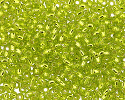TOHO Lime Green (with Silver Lining) Round 8/0 Seed Bead