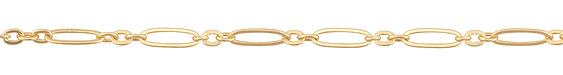 Satin Hamilton Gold (plated) Long & Short Flat Oval Chain