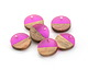 Walnut Wood & Orchid Resin Coin Focal 15mm