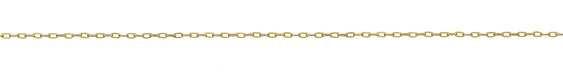 14K Gold Filled Tiny Flat Paperclip Chain
