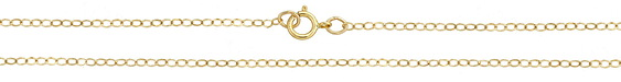 """14K Gold Filled Finished Small Flat Cable Chain 18"""""""
