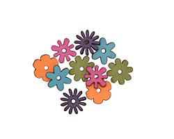 Lillypilly LBB Leather Mini Assorted Flowers 12mm