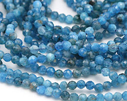 Pacific Blue Apatite Faceted Round 3.5mm