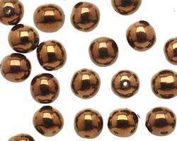 Czech Glass Dark Bronze Round 8mm