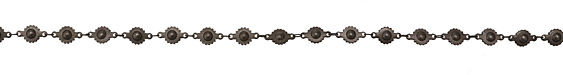 Matte Gunmetal (plated) Ball & Cog Chain