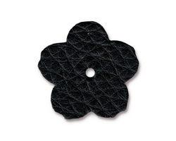 """TierraCast Black Leather 1"""" Flower 25mm"""