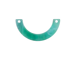Zola Elements Emerald Marbled Acetate U-Shape Link 30x15mm