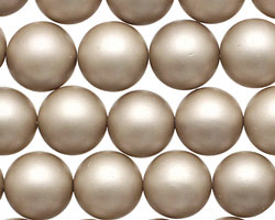 Champagne (matte) Shell Pearl Round 12mm