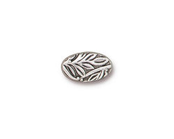 TierraCast Antique Silver (plated) Botanical Leaf Bead 13x8mm