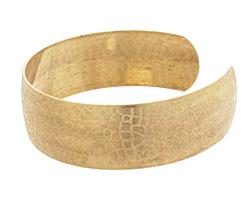 Brass Crackled Cuff 63x19mm