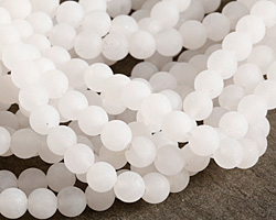 White Quartz (matte) Round 6mm