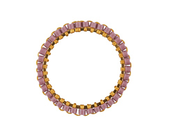 Lavender Miyuki Delicas Woven on Gold (plated) Stainless Steel 23mm