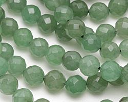 Green Aventurine Faceted Round 8mm
