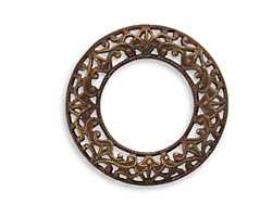 Vintaj Natural Brass Scrolled Filigree Ring 27mm