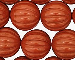 Red Jasper Carved Round 18mm