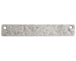 Nunn Design Antique Silver (plated) Hammered Flat Long Narrow Horizontal Tag 45x7mm