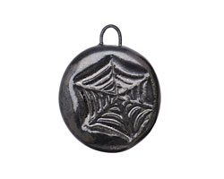 Gaea Ceramic Black Pearl Web Pendant 23-25x27-30mm