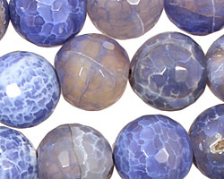 Blue Fire Agate Faceted Round 16mm
