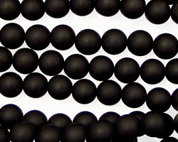 Brazil Black Stone (matte-finish) Round 6mm