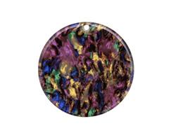 Zola Elements Abalone Acetate Coin Focal 30mm