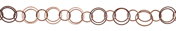 Antique Copper (plated) Multiring Chain