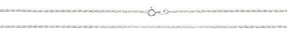 """Sterling Silver Finished Delicate Oval Cable Chain 18"""""""