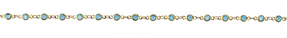 Zola Elements Aqua Crystals Round Link Brass Chain
