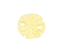 Lemon Recycled Glass Sand Dollar 20mm