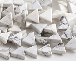 White Howlite Triangle 11-12x13mm