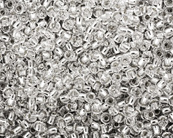TOHO Crystal (with Silver Lining) Round 8/0 Seed Bead