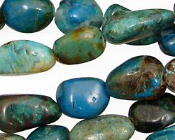 African Chrysocolla Tumbled Nugget 10x15-15x20mm