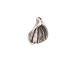 Nunn Design Antique Silver (plated) Lily Flower Charm 14x17mm