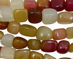 Rainbow Soochow Jade Nugget 10x8mm
