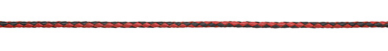 Red & Black Braided Leather Bolo Cord 3mm