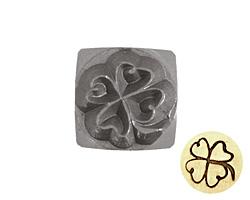 4 Leaf Clover Metal Stamp 6mm