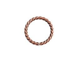 Nunn Design Antique Copper (plated) Grande Rope Jump Ring 17mm