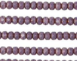 Czech Glass Bronzed Wisteria Fire Polished Rondelle 3x5mm