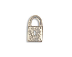 Vintaj Pewter Journal Lock 9x17mm