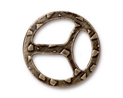 TierraCast Antique Brass (plated) Tribuckle 28mm