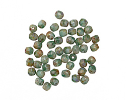 Czech Fire Polished Glass Succulent Round 3mm