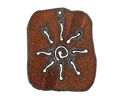 The Lipstick Ranch Rusted Iron Sun Dog Tag 42x50mm