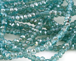 Oceanic Crystal Faceted Rondelle 2mm