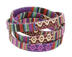 Purple Flat Woven Cotton Cord 10mm