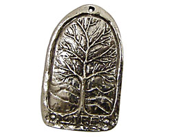 Green Girl Pewter Tree of Life 23x32mm