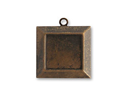 Vintaj Natural Brass Picture Frame 20x22mm